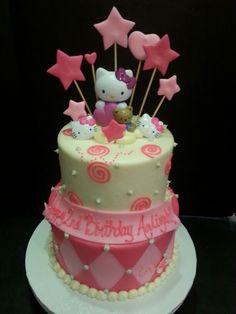 Tiered hello kitty cake