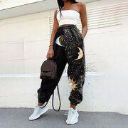 Hot Sale Casual Street Style, Look Fashion, Fashion Outfits, Womens Fashion, Fashion Pants, Street Fashion, Latest Fashion, Baggy Sweatpants, Mode Grunge