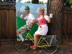 This would be a hit since the drinks couldnt pedal a real bike Oktoberfest party idea Oktoberfest Decorations, Octoberfest Party, German Oktoberfest, German Wedding, Beer Girl, 50th Party, Beer Festival, Simple Weddings, Party Planning