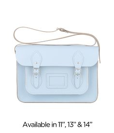 perfect pastel blue. it would be great for all the outfits my neon purse doesn't match!