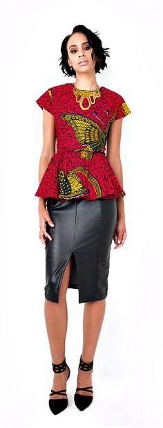 African print. Cotton. Peplum top. Ankara | Dutch wax | Kente | Kitenge | Dashiki | African print dress | African fashion | African women dresses | African prints | Nigerian style | Ghanaian fashion | Senegal fashion | Kenya fashion | Nigerian fashion (affiliate)