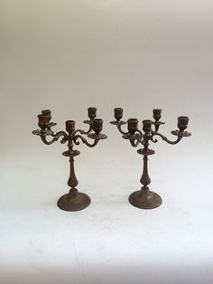 Vintage Special Candlestick Clamshell Candleholder For Room Brass To Win A High Admiration Other