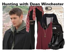 """""""Dean Winchester"""" by clothesforfuture ❤ liked on Polyvore featuring Casetify, R13, Merci Me London, The North Face and Topshop"""
