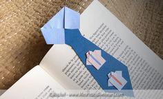 bricolage marque page cravate en papier et pliage
