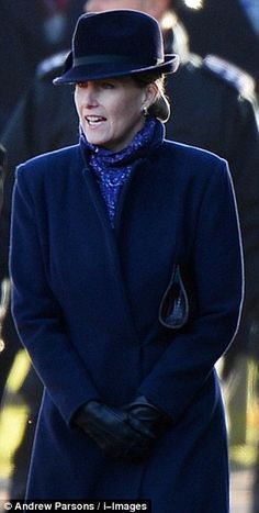 12/29/2013: Sophie, Countess of Wessex looks elegant for church (Sandringham, Norfolk)