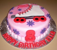 Roller Skate Birthday Cake.  With 5 days off I might be ambitious and attempt this for Sunday.