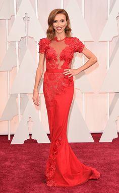 2015 Oscars : Red Carpet Arrivals Giuliana Rancic in Mirelle Dagher #2015Oscars #redcarpet #giulianarancic