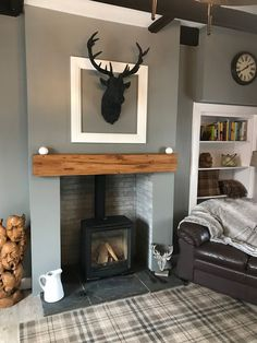 Oak Beam Fireplaces - Cheapest Mantels in the UK (Planed and Sanded) Cottage Living Room Small, Living Room Grey, Small Living Rooms, Living Room Interior, Home Living Room, Living Room Designs, Living Room Decor, Cosy Living Rooms, Woodland Living Room