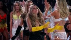 Cara Delevingne went crazy after the previous time. ~ dumb gif -from the-victorias-secret-TV-special.