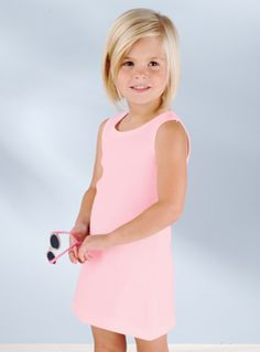 Pink Toddler Tank Dress - Girls Rib Tank Dress