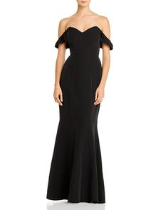 WAYF Gabriela Off-the-Shoulder Gown Women - Dresses - Evening & Formal Gowns - Bloomingdale's Off One Shoulder Tops, Off Shoulder Sweater, Bridal Party Dresses, Bridesmaid Dresses, Bridesmaids, Halter Gown, Gowns Online, Fashion Outlet, Formal Gowns