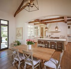 50 Beautiful French Country Dining Room Design and Decor Ideas - HomeSpecially French Country Dining Room, French Country Kitchens, Country Living, Country Style, Country Decor, Country French, Modern French Kitchen, French Chic, French Style