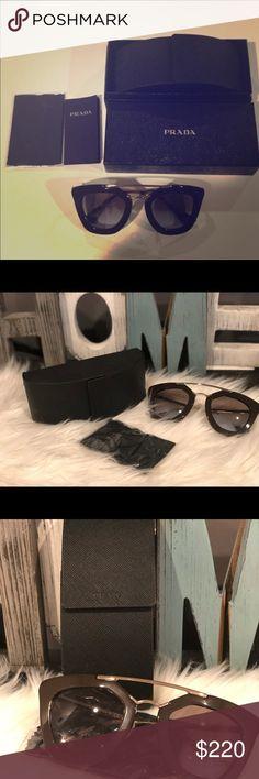 95b948b71 Authentic PRADA Cinema Sunglasses in brown Beautiful Cinema Sunglasses .  Brown with gold hardware and gradient