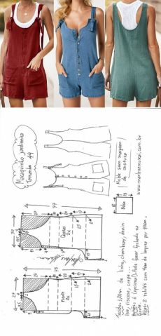 Шитье простые выкройки Macaquinho jardineira inteiro – Marlene Mukai Source by jinthelentz casual dresses simple Diy Clothing, Clothing Patterns, Sewing Clothes Women, Fashion Sewing, Diy Fashion, Costura Fashion, Dress Outfits, Fashion Dresses, New Fashion Clothes