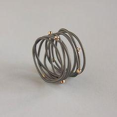 Jacek byczewski wire rings, jacek byczewski, jewelri