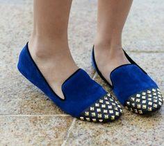 Studded Royal Blue shoes <3