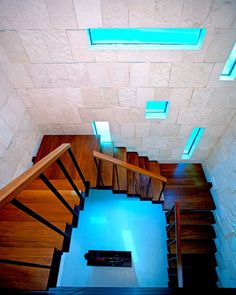 Beach Bonaire House: I love the colour of the staircase against the brilliant blue.