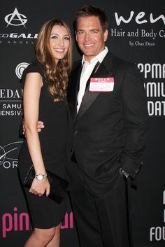 Michael Weatherly & wife