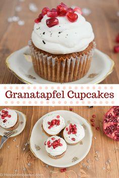 Fruchtig leckere Vanille Granatapfel Cupcakes