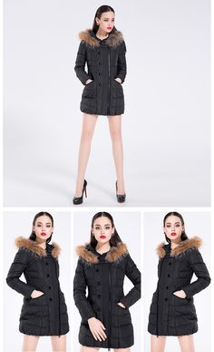 Aliexpress.com : Buy Deodar 2017 New Design Fashion 90% White Goose Down Jacket Women Winter Long Slim Vintage Solid Raccoon Fur Hooded Coats DX3136 from Reliable coat down suppliers on deodar Official Store