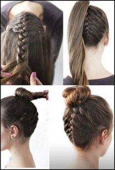 Eine wundervolle #Frisur und einfach gestylt für #Weihnachten oder ... | Einfache Frisuren