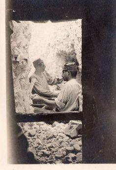 WWI, Hurlus, Souain 1915; poilu digging a gallery, sector S.