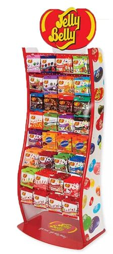 Jelly Belly Peg Bags with Wave Rack | Jelly Bean Display | Candy Display