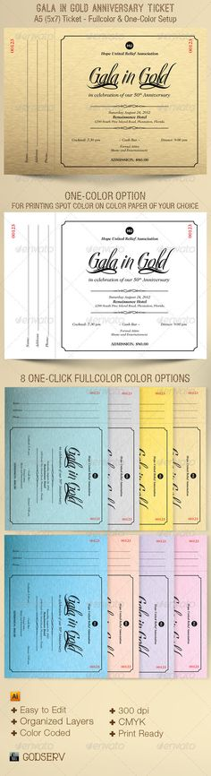 Elegant Anniversary Gala Ticket Template Pastor anniversary - ball ticket template