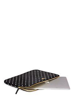 classic nylon mini pavillion dot laptop zip sleeve by kate spade new york