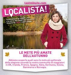 Qual e' la vostra meta preferita in Europa per l'Autunno per budget, cultura ed eventi gratuiti? Scoprite qui cosa dice la nostra community.. #localista #lastminute.com #Italia #viaggi #offerte
