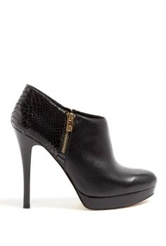 Black Leather and Patent Python York Booties by MICHAEL Michael Kors - Outfit 147