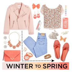 """Winter to Spring"" by amybaby13 ❤ liked on Polyvore featuring MANGO, Levi's, Keds, Dorothy Perkins, STELLA McCARTNEY, Margaret Elizabeth, Ruby Rocks, Christian Dior, Bellezza and Anne Klein"