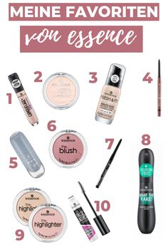 My TOP 10 makeup products from essence. Great beauty products from the affordable drugstore brand. Bold Eye Makeup, Matte Makeup, Makeup For Brown Eyes, Smokey Eye Makeup, Natural Prom Makeup, Wedding Eye Makeup, Natural Lips, Essence Makeup, Kajal