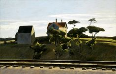 From Indianapolis Museum of Art at Newfields, Edward Hopper, New York, New Haven and Hartford Oil on canvas, 32 × 50 in American Realism, American Artists, Edward Hopper Paintings, Ashcan School, Indianapolis Museum, Indianapolis Indiana, Social Realism, Robert Rauschenberg, Dibujo