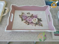 Decoupage Glass, Decoupage Box, Rustic Crafts, Vintage Crafts, Ideas Vintage, Wood Projects, Projects To Try, Painted Trays, Custom Tumblers