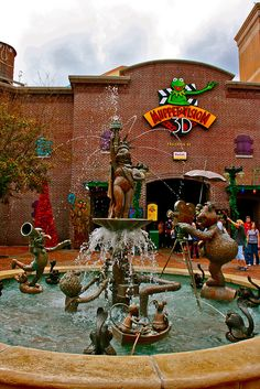 Miss Piggy Fountain Outside Muppet Vision 3-D at Disney's Hollywood Studios, Walt Disney World, FL