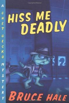 Hiss Me Deadly: A Chet Gecko Mystery by Bruce Hale, http://www.amazon.com/dp/0152064249/ref=cm_sw_r_pi_dp_T2UKpb1B3P15A