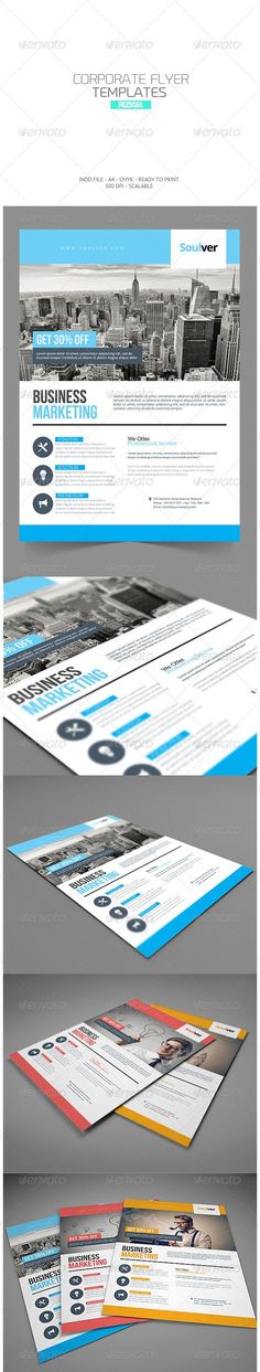 Buy Corporate Flyer by punkl on GraphicRiver. Spesicfication Indd And Idml File Easy To Customize All Text Editable With Text Tool Userguide available in packag. Brochure Inspiration, Flyer Design Inspiration, Corporate Brochure Design, Corporate Flyer, Flyer Layout, Brochure Layout, Web Design, Magazine Ideas, Case Study Design