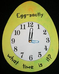 """Classroom Freebies: """"Eggsactly"""" What Time Is It?"""