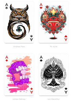 Fantastical Playing Card Collaborations - The Playing Arts Deck of Cards Give Every Card Great Art (GALLERY)