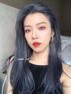 Two Color Hair, Korean Hair Color, Hair Color Streaks, Pretty Hair Color, Hair Dye Colors, Ombre Hair Color, Shot Hair Styles, Curly Hair Styles, Asian Short Hair