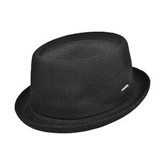 Kangol Bamboo Mowbray Pork Pie Hat - Black from Village Hats.