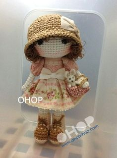 Medium Size Suri crochet doll.