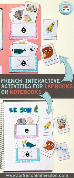 Sorting pockets: kids sort the words that include and don't include the focus sound. This activity is part of the French phonics lapbooks. Kids focus on one letter-sound correspondence at a time! Read In French, Study French, Learn French, French Stuff, French Flashcards, Flashcards For Kids, French Worksheets, French Lessons, Spanish Lessons