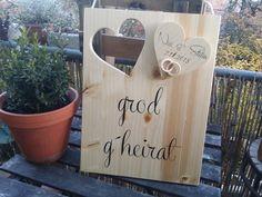 Türschild Hochzeitsschild Geschenk Brautpaar Herz von mein rosa rot  auf DaWanda.com
