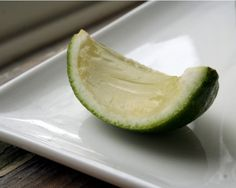 Gin & Tonic Jellies (in a lime wedge!). From rosemarried.com