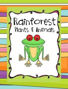 This is truly a Rainforest Learning Adventure unit - 96 pages! It is great to use with your animal characteristics, habitat, and environment lessons. It comes with 2 pages of Cool Rainforest Facts and filled out webs and organizers for teacher resource. Rainforest Facts, Rainforest Activities, Rainforest Habitat, Rainforest Theme, Rainforest Animals, Teaching Kindergarten, Teaching Science, Science Activities, Science Ideas