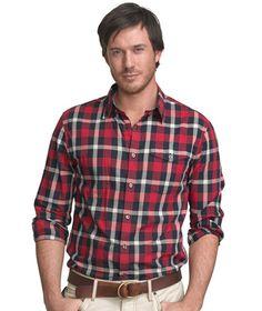 d00da12c739 LL Bean - Cotton Madras Long-Sleeve Shirt Man Clothes