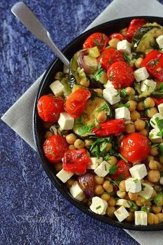 Vegetable Recipes, Vegetarian Recipes, Cooking Recipes, Healthy Recipes, Chickpea Salad Recipes, Health Eating, Light Recipes, The Best, Clean Eating