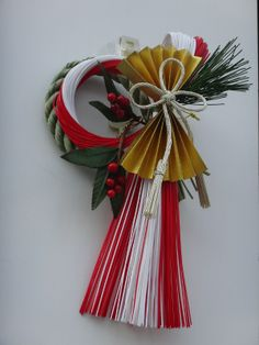 sacred Shinto rope with festoons ( Japanese New Years decoration )